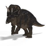 Dinosaur Diceratops royalty free illustration