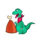 Dinosaur dinner. Isolated illustration animal Stock Photography