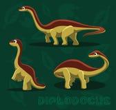 Dinosaur Diplodocus Cartoon Vector Illustration Stock Photography
