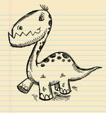 Dinosaur Doodle Sketch Art Royalty Free Stock Photos