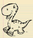 Dinosaur Doodle Sketch Art Stock Photography