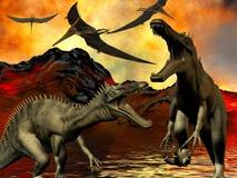 Dinosaur doomsday Stock Image