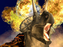 Dinosaur doomsday Stock Image