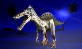 Dinosaur doomsday. The fantasy illustration Royalty Free Stock Photography