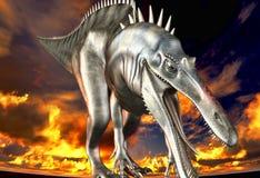 Dinosaur doomsday. The fantasy illustration Royalty Free Stock Photos