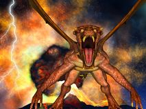 Dinosaur doomsday. Came about at night Stock Photos
