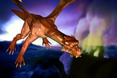 Dinosaur doomsday. Came about at night Royalty Free Stock Image