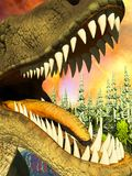 Dinosaur doomsday 3d rendering Royalty Free Stock Photo