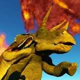 Dinosaur doomsday 3d rendering Stock Images