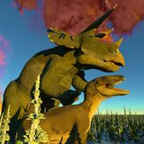 Dinosaur doomsday 3d rendering Stock Image