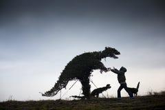 dinosaur dziewczyna Zdjęcie Royalty Free