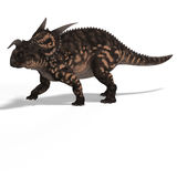 Dinosaur Einiosaurus. With Clipping Path Royalty Free Stock Images