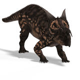 Dinosaur Einiosaurus. With Clipping Path Stock Image