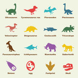 Dinosaur elements Stock Image