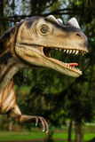 Dinosaur exhibition in botanic park Stock Photography