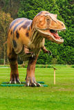 Dinosaur exhibition in botanic park Stock Image
