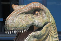 Dinosaur in `Explora` Park sector. Medellin Colombia. Stock Photography