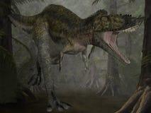 dinosaur för alioramus 3d Arkivbilder