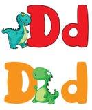 Dinosaur för bokstav D royaltyfri illustrationer