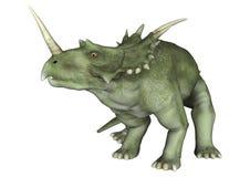 dinosaur för clipping 3d över white för styracosaurus för banaframförandeskugga Royaltyfri Fotografi