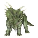 dinosaur för clipping 3d över white för styracosaurus för banaframförandeskugga Fotografering för Bildbyråer