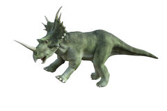 dinosaur för clipping 3d över white för styracosaurus för banaframförandeskugga Arkivfoton