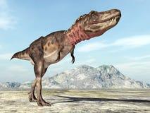 dinosaur för clipping 3d över white för tarbosaurus för banaframförandeskugga Arkivfoton