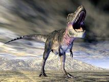 dinosaur för clipping 3d över white för tarbosaurus för banaframförandeskugga Arkivbild