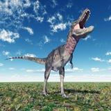dinosaur för clipping 3d över white för tarbosaurus för banaframförandeskugga Royaltyfri Fotografi