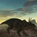 dinosaur för diceratops 3d Fotografering för Bildbyråer