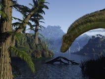 dinosaur för dicraeosaurus 3d Arkivfoton