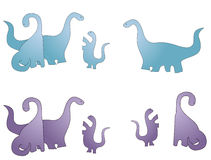 Dinosaur family cartoon Stock Photos