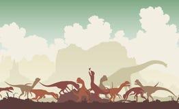 Dinosaur feast Stock Photos