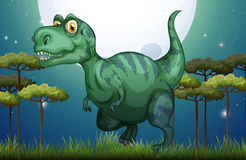 Dinosaur in the field at night Stock Image