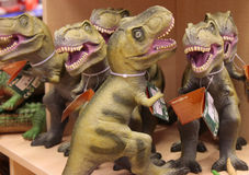 Dinosaur figures Stock Images