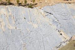 Dinosaur footprints. In Fumanya, Spain Stock Photography