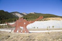 Dinosaur footprints. In Fumanya, Spain Stock Images
