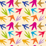 Dinosaur footprints vector seamless pattern Stock Image