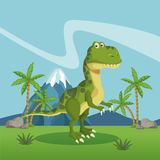 Dinosaur in the forest. Icon vector illustration graphic design royalty free illustration
