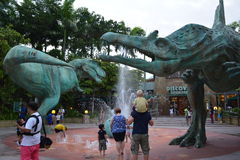 Dinosaur Fountain Royalty Free Stock Images