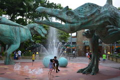 Dinosaur Fountain Royalty Free Stock Photo