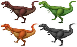 Dinosaur in four colors Royalty Free Stock Photography