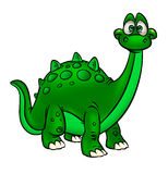 Dinosaur Funny  cartoon animal Stock Image