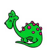 Dinosaur funny cartoon Royalty Free Stock Image