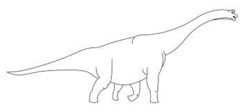 Dinosaur géant noir et blanc Photo libre de droits