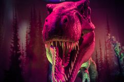 Dinosaur. Giant dinosaur in the forst tyrannosaurus reptile Royalty Free Stock Photo