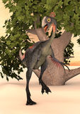 Dinosaur Gigantoraptor Royalty Free Stock Photography