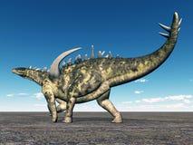 Dinosaur Gigantspinosaurus royalty free illustration