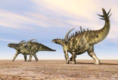 Dinosaur Gigantspinosaurus vector illustration