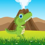 Dinosaur on glade Royalty Free Stock Photography